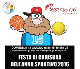 Festa di chiusura attività sportive 2016