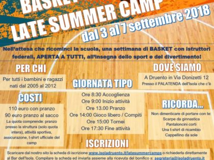 Basket e Volley Insieme Late Summer Camps