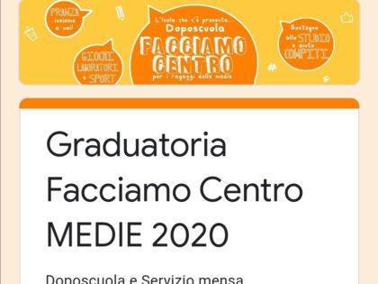 Iscrizioni Oratorio Pomeridiano Medie 2020